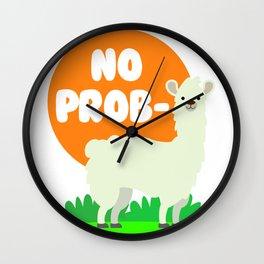 No Prob-Llama - No Problem Llama Wall Clock