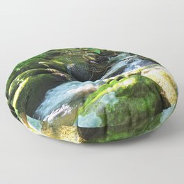 Waterfall in the Creek Floor Pillow