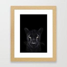 Black Panther on black Framed Art Print