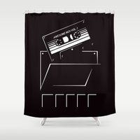 starlord Shower Curtains featuring Gardians of the galaxy ( awesome mix vol.1) by MISTER BLACKWHITE
