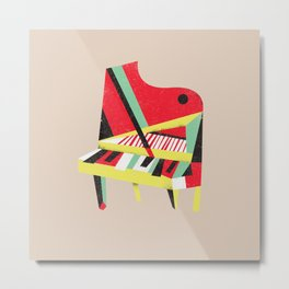 Cubist Piano Metal Print