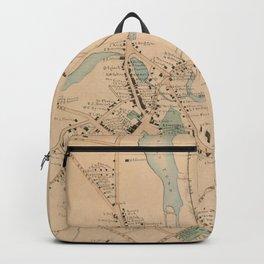 Vintage Map of Morristown NJ (1889) Backpack