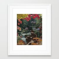 reading Framed Art Prints featuring reading by Eleanor Boersma