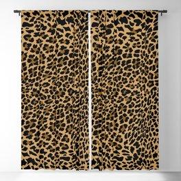LEOPARD LEO SKIN ORIGINAL BLACK, BROWN. ANIMAL PRINT BY SUBGRL Blackout Curtain
