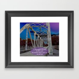 One Tree Hill- All you need is one. Framed Art Print