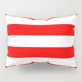 Australian Flag Red and White Wide Horizontal Cabana Tent Stripe Pillow Sham
