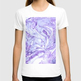 Purple & Blue Marbling T-shirt