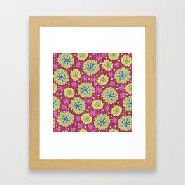 Kantha floral 6 Framed Art Print