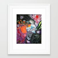 space jam Framed Art Prints featuring space jam by Bribo