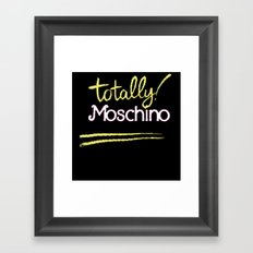 Totally Moschino Black Framed Art Print