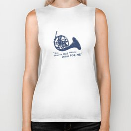 How I Met Your Mother - Blue French Horn Biker Tank