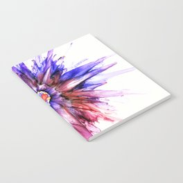 Painted Star Flower Abstract Notebook