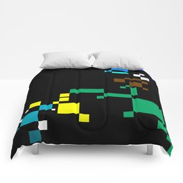 PixelLandScape Comforters