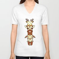 totem V-neck T-shirts featuring Totem by Freeminds