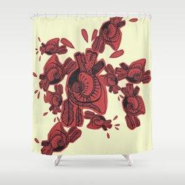 Gipsy heart Shower Curtain