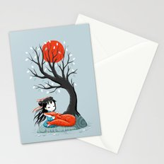 Girl and a Fox 2 Stationery Cards