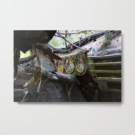 Broken Dash Metal Print