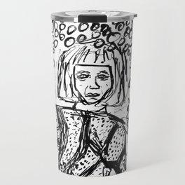 Woman Lost in the Dark Travel Mug
