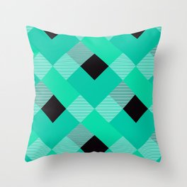 Geometrical Square Abstraction 16 Throw Pillow