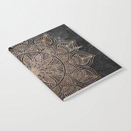 Mandala - rose gold and black marble 4 Notebook