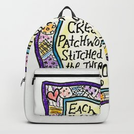 Quilt Quote Backpack