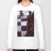 chess Long Sleeve T-shirts featuring Chess Perspective by Thick Paint Works