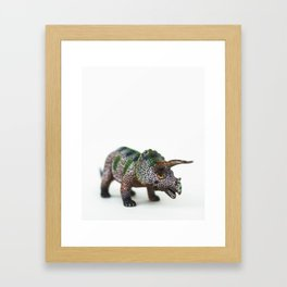 Fine Art Dinosaur Print: Triceratops Framed Art Print