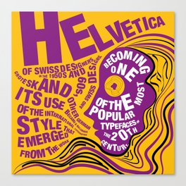 Psychedelic Helvetica  Canvas Print