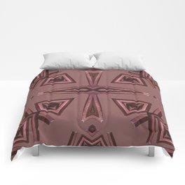 Red Kaleido Palm Comforters