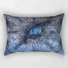 Frost Dragon Mandala Rectangular Pillow