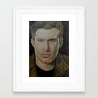 dean winchester Framed Art Prints featuring Dean Winchester by Kelsey Voykin