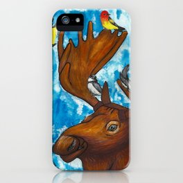 Four Birds and a Moose iPhone Case