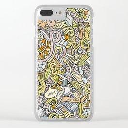 School doodles Clear iPhone Case