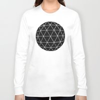 retro Long Sleeve T-shirts featuring Geodesic by Terry Fan