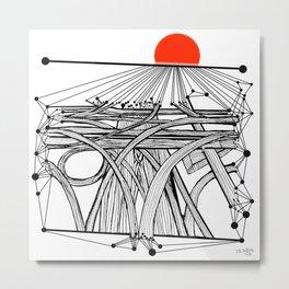 the Roads Metal Print