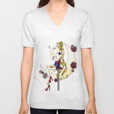 Pin Up Sailor Moon- Sailor Scout Pin Up Series #1 Unisex V-Neck