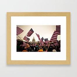 Presidential Inauguration Framed Art Print