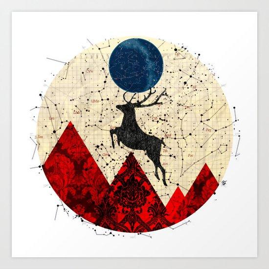 Deer Dream Mountain · 3 Art Print