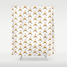 LOVE is hot Shower Curtain