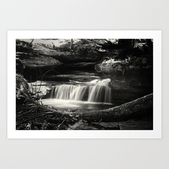 Lower falls in the spring Art Print