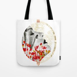 Hand of a Woman Collage Tote Bag