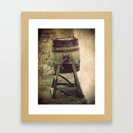 Antique Butter Churn Framed Art Print