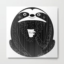 Chalkboard sloth Metal Print