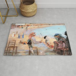 On the beach, Royan - Rupert Charles Wulsten Bunny Rug