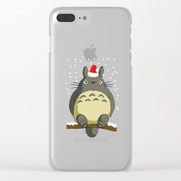 ghibli christmas Clear iPhone Case