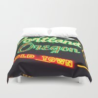 portland Duvet Covers featuring Portland! by Elle Hanley Photography