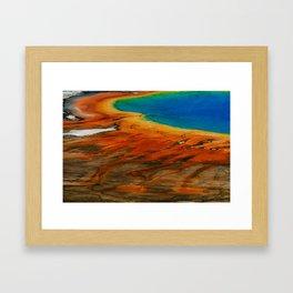 Grand Prismatic Lake Framed Art Print