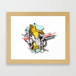Speed Date | Collage Framed Art Print