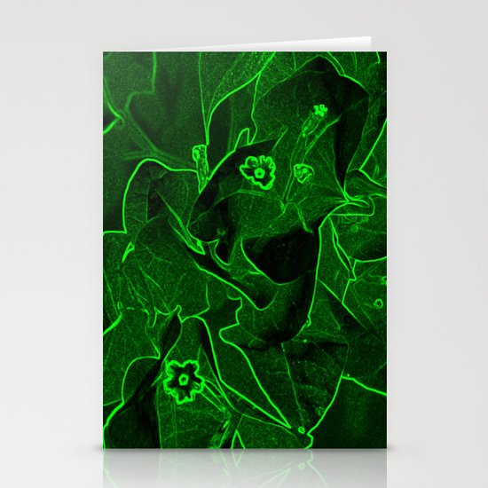 Ali - green Stationery Cards