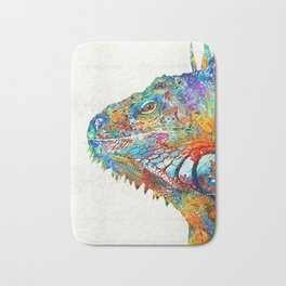 Colorful Iguana Art - One Cool Dude - Sharon Cummings Bath Mat